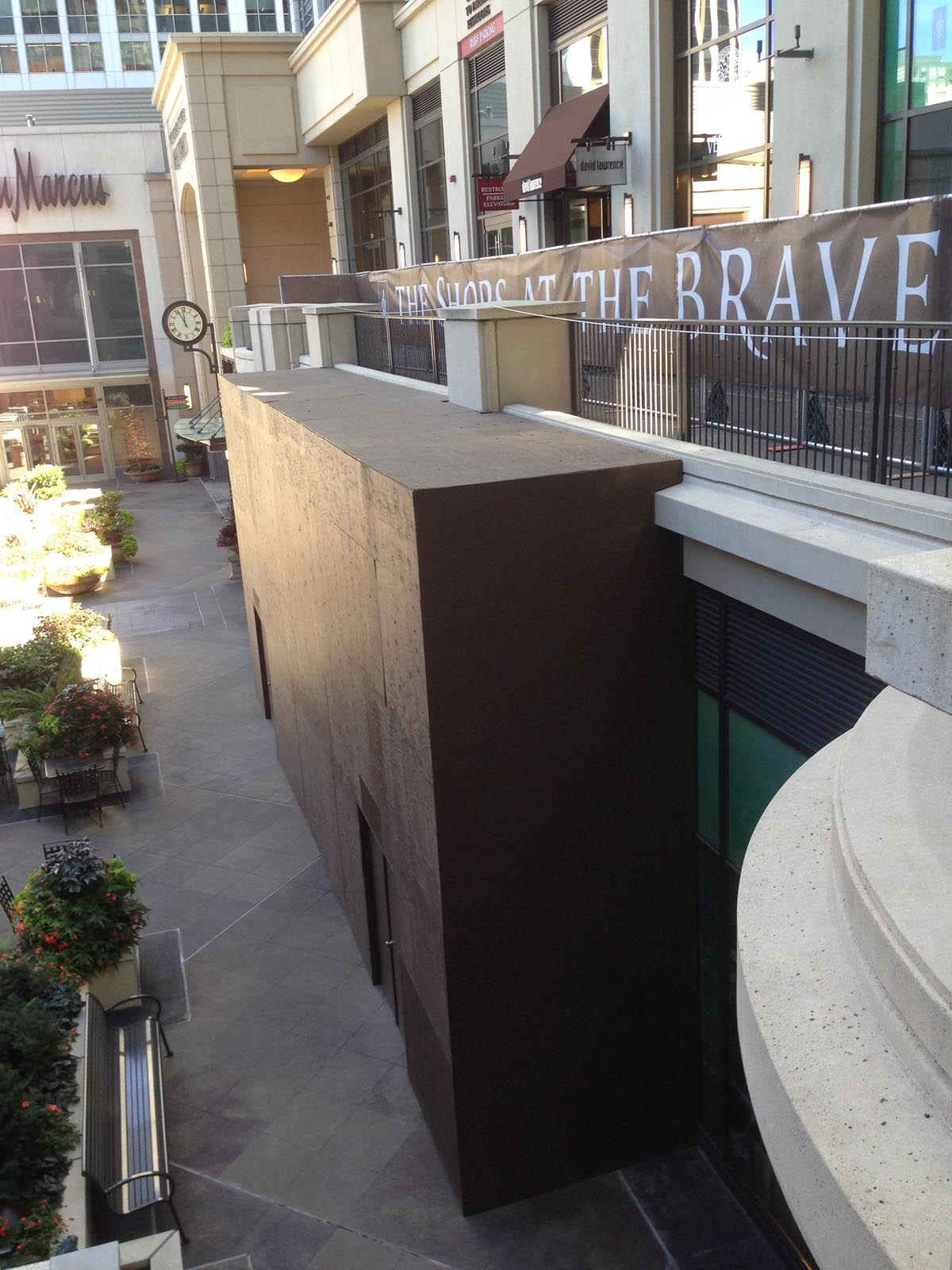 Bravern Storefront and balcony area