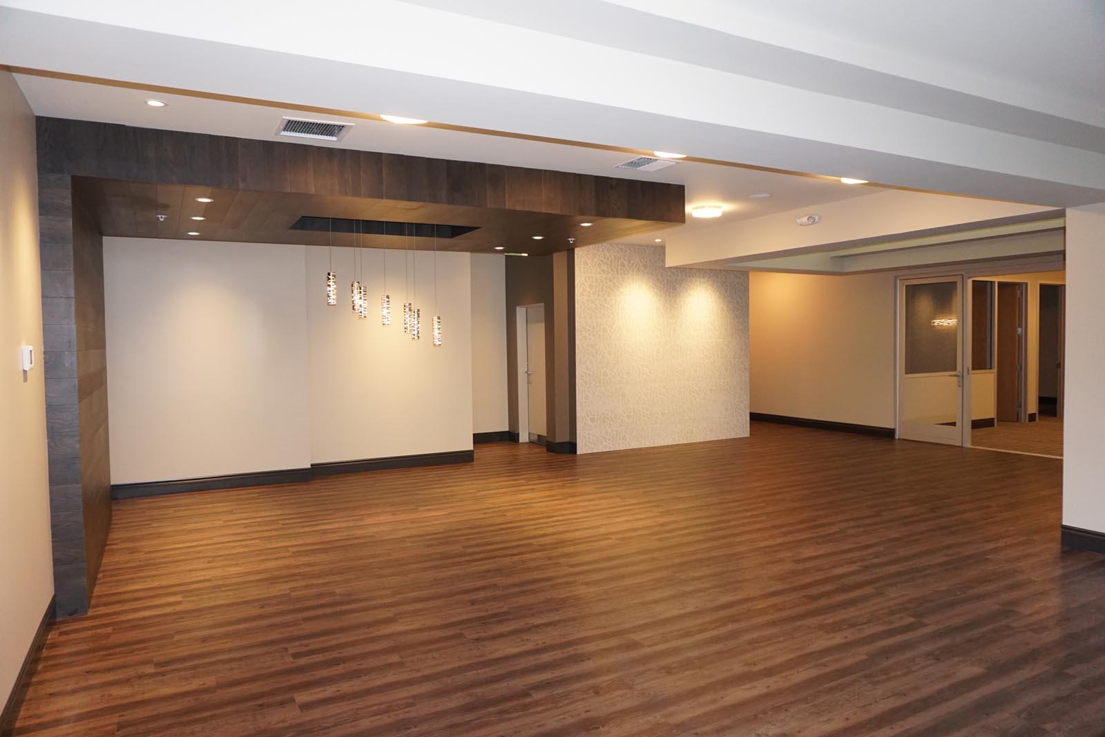 City Square Lobby hardwood floors