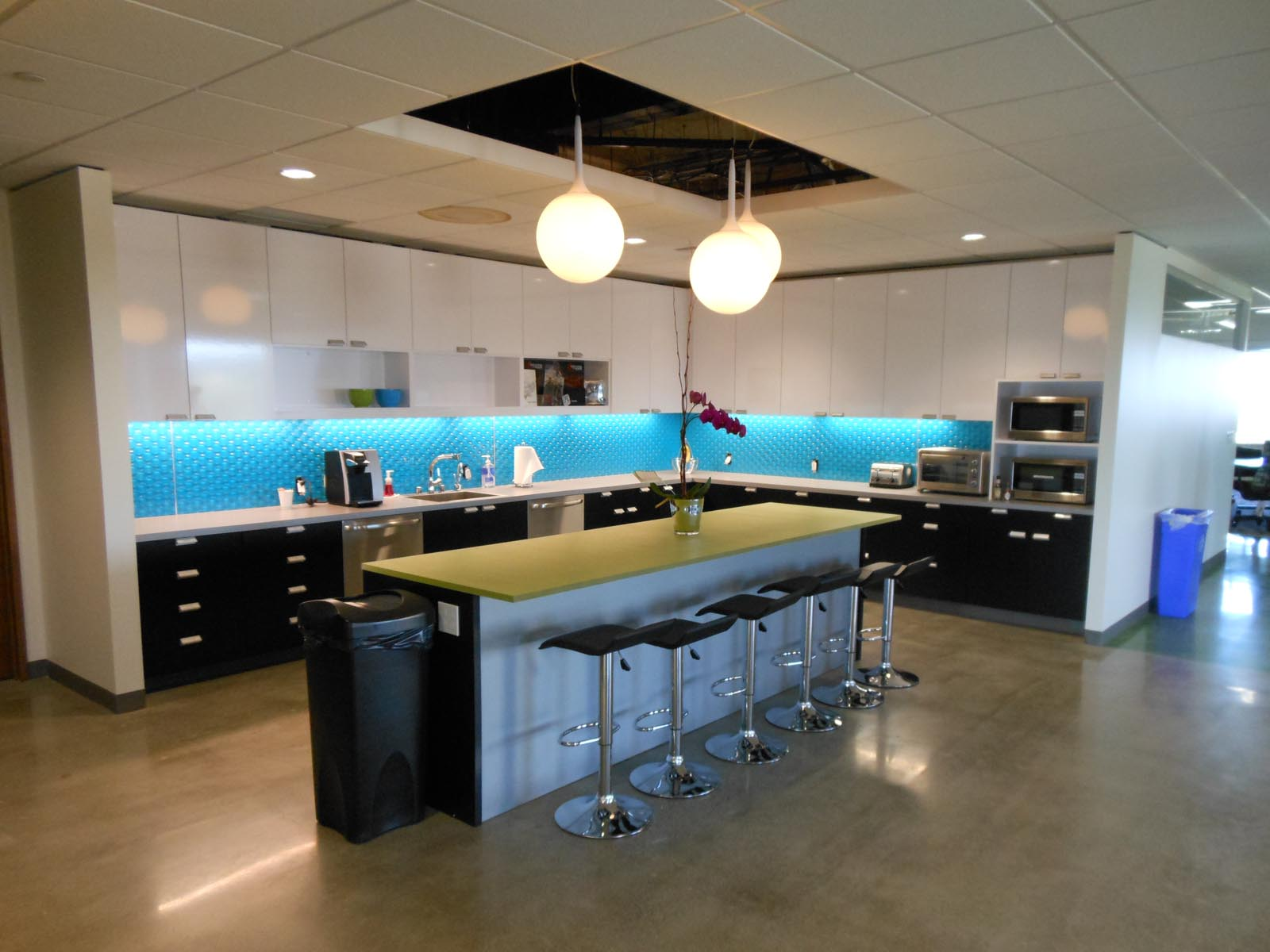 Epic Games kitchen and dining area