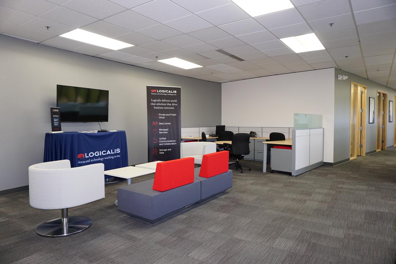 Logicalis seating area and sinage
