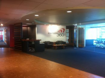 Strategies 360 entryway and front desk