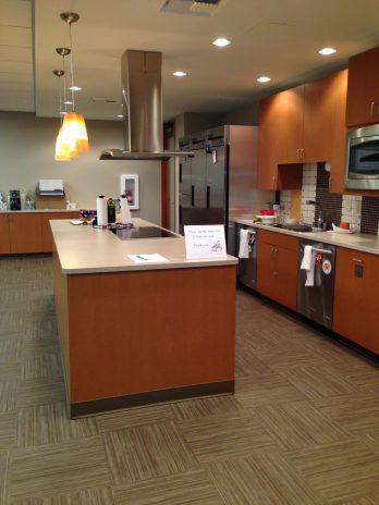 The Emily Program kitchen setup