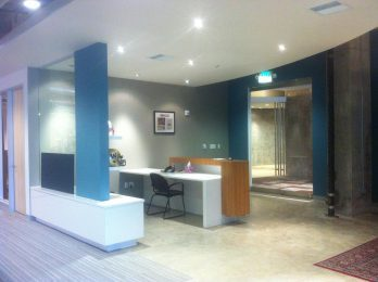 X2 Impact front desk and entryway
